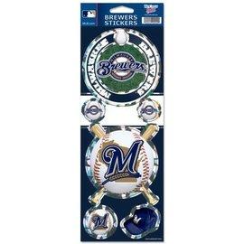 Milwaukee Brewers Prismatic Sticker