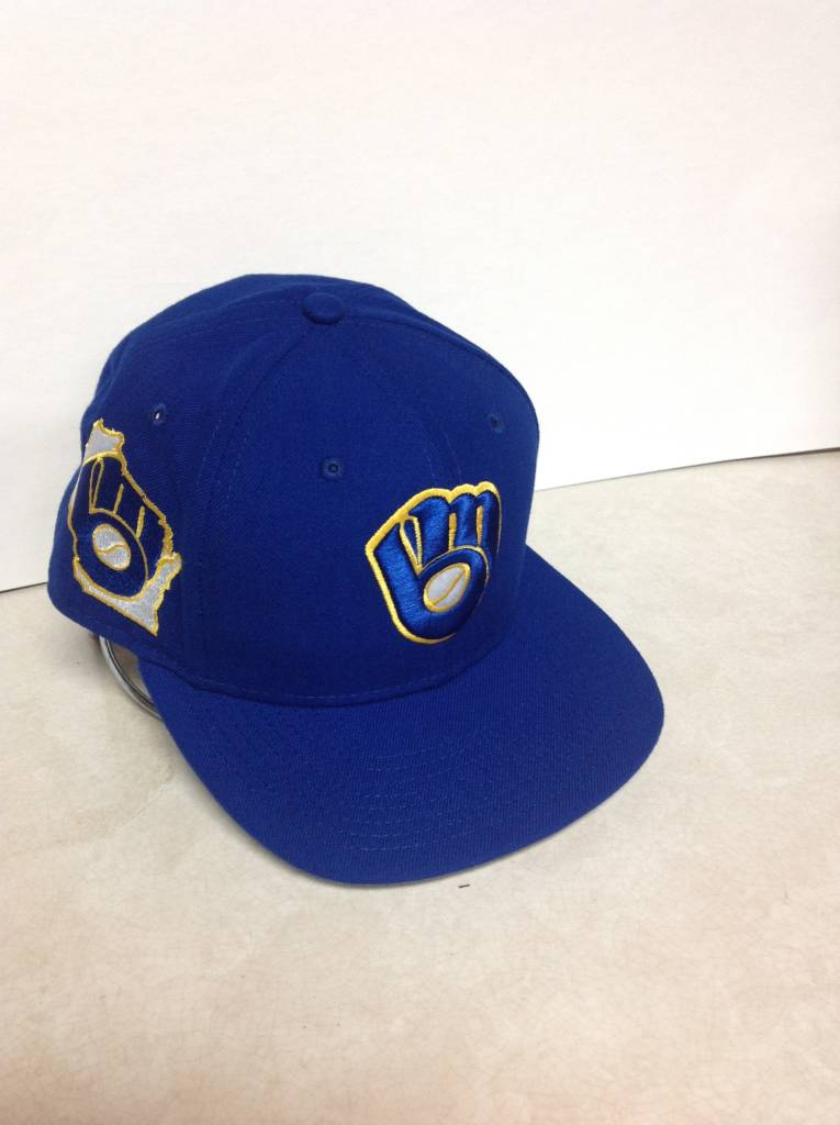 e5c785c66e813c Milwaukee Brewers Men's 9-50 State Clip Snapback Adjustable Hat ...