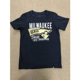 Milwaukee Brewers Youth Barrel Man Logo Short Sleeve Tee