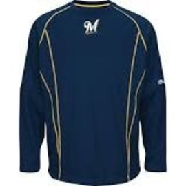 Milwaukee Brewers mens Onfield Pullover