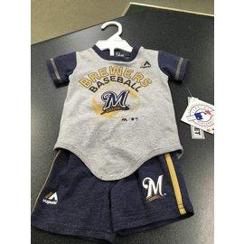 Milwaukee Brewers Newborn short and tee set