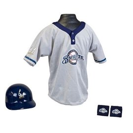 Franklin Sports Milwaukee Brewers Youth Uniform Set