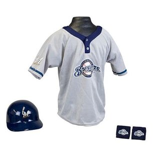 Franklin Sports Milwaukee Brewers Youth Uniform Set