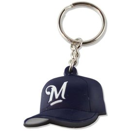 Milwaukee Brewers Rubber baseball hat keychain