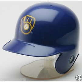 Milwaukee Brewers mini helmet - ball and glove logo