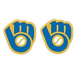 WinCraft, Inc. Milwaukee Brewers Ball & Glove Logo Post Earrings