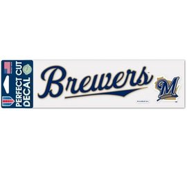 WinCraft, Inc. Milwaukee Brewers 3x10 Perfect Cut Decal