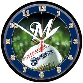 Milwaukee Brewers Round wall clock - Grass background