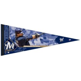 Milwaukee Brewers 12x30 Premium Pennant - Ryan Braun