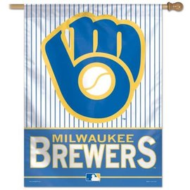 Milwaukee Brewers 27x37 Banner Flag with Ball & Glove logo