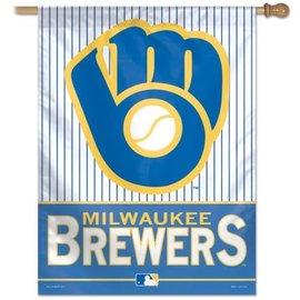 WinCraft, Inc. Milwaukee Brewers 27x37 Banner Flag with Ball & Glove logo