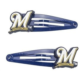 Milwaukee Brewers Soft Rubber Snap Clip (Pair)