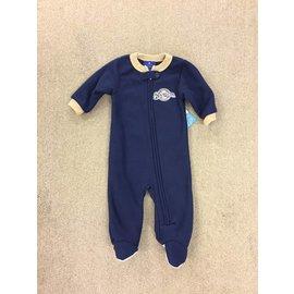Milwaukee Brewers Newborn Navy Fleece Footed Sleeper