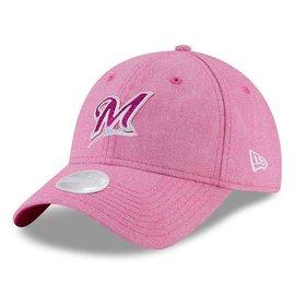 Milwaukee Brewers Women's Mom Day Pink 9-20 Team Glisten Adjustable Hat