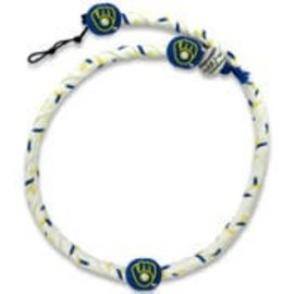 Milwaukee Brewers Ball and glove frozen rope necklace