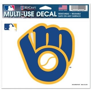 WinCraft, Inc. Milwaukee Brewers B&G Multi-use Colored Decal 5x6
