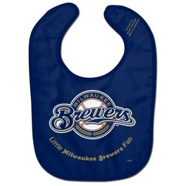 Milwaukee Brewers navy baby bib