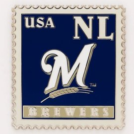 Milwaukee Brewers Stamp pin