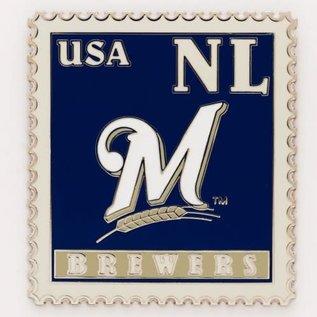 WinCraft, Inc. Milwaukee Brewers Stamp Pin