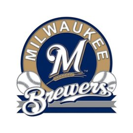 Milwaukee Brewers pin with baseballs