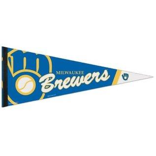 WinCraft, Inc. Milwaukee Brewers 12x30 Premium pennant - Ball and Glove logo