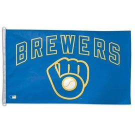 WinCraft, Inc. Milwaukee Brewers 3x5 flag - Ball & Glove logo