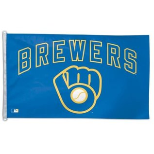 WinCraft, Inc. Milwaukee Brewers 3x5 flag - Ball & Glove logo