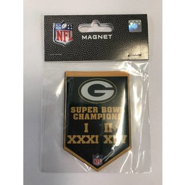 Green Bay Packers Championship Banner Magnet