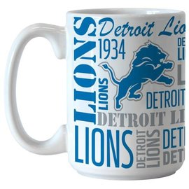 Detroit Lions 15 Oz Spirit Coffee Cup