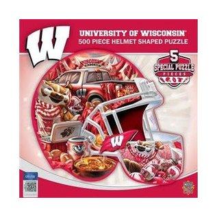Wisconsin Badgers Helmet Shaped 500 Piece Puzzle