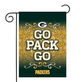 Green Bay Packers Go Pack Go Garden Flag