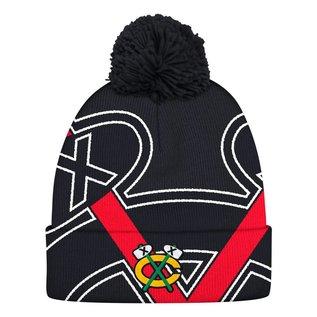 Adidas Chicago Blackhawks Cuffed Pom Knit