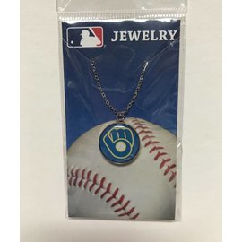 Milwaukee Brewers necklace - circle with B&G logo