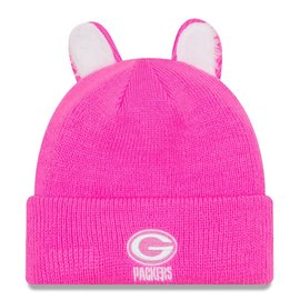 New Era Green Bay Packers Toddler Pink Cozy Cutie Knit Hat