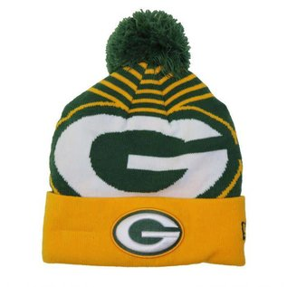 New Era Green Bay Packers Logo Whiz Green Cuffed Knit Hat