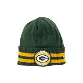 Green Bay Packers 2 Striped Remix Cuffed Knit Hat