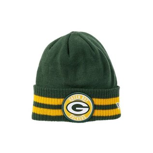 New Era Green Bay Packers 2 Striped Remix Cuffed Knit Hat
