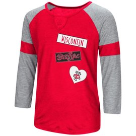 Wisconsin Badgers Girls All You Need 3/4 Sleeve Tee