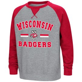 Wisconsin Badgers Youth Rudy Zoleteck Fleece Crewneck Sweatshirt