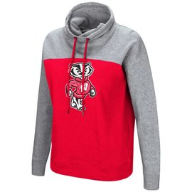 Wisconsin Badgers Women's The Talk Long Sleeve Funnelneck Pullover