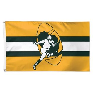 WinCraft, Inc. Green Bay Packers Deluxe 3x5 Flag Retro Logo