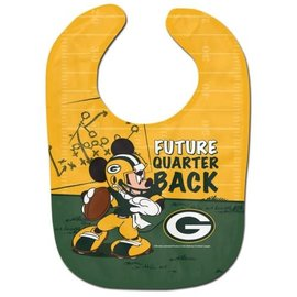 WinCraft, Inc. Green Bay Packers Mickey Mouse Baby Bib