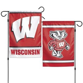 WinCraft, Inc. Wisconsin Badgers 2 Sided Garden Flag