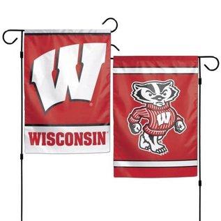 WinCraft, Inc. Wisconsin Badgers 2 Sided Garden Flag