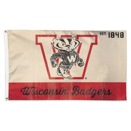 Wisconsin Badgers 3x5 flag Vintage Logo