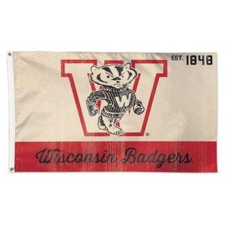 WinCraft, Inc. Wisconsin Badgers 3x5 flag Vintage Logo