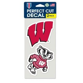 Wisconsin Badgers 2 pack Perfect Cut Decal