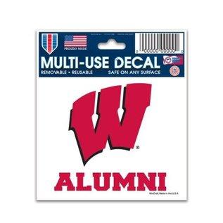 WinCraft, Inc. Wisconsin Badgers 3x4 Alumni Decal
