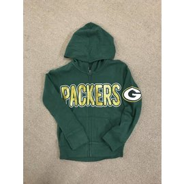 Green Bay Packers Youth Girls Sweater Knit Full Zip Hoodie
