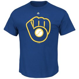Majestic Milwaukee Brewers Men's Cooperstown Official Short Sleeve Tee